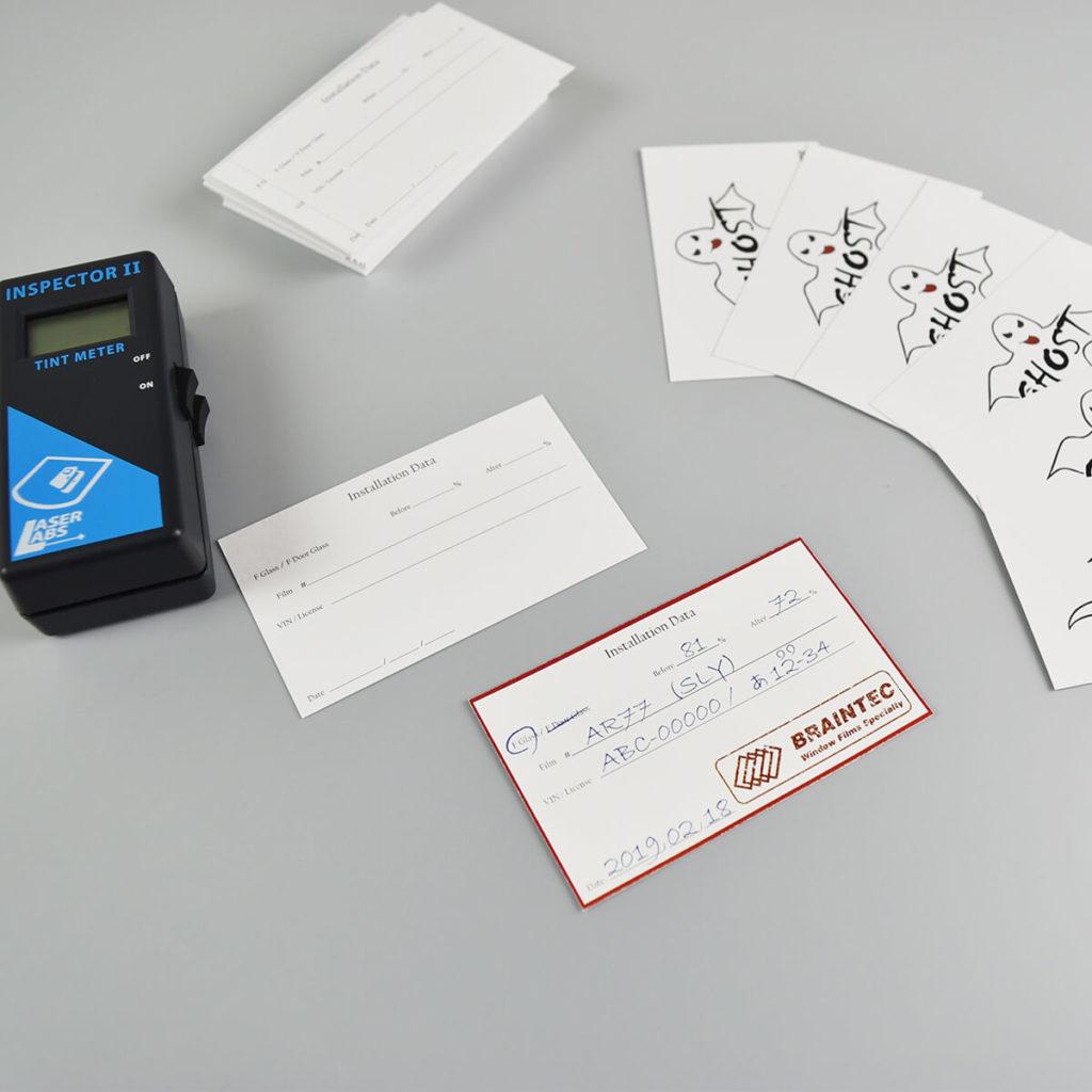 ショップ様向け GHOST Installation Data カード