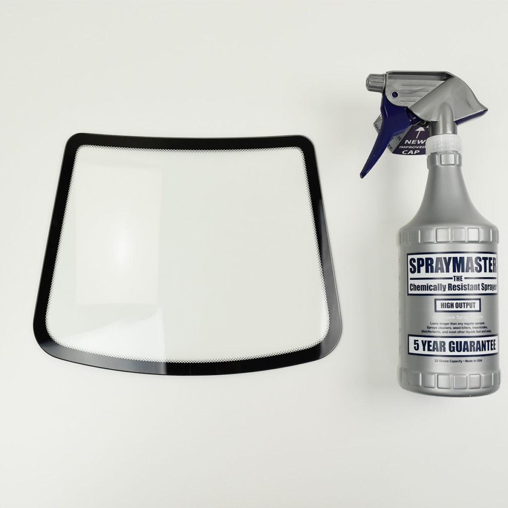 再入荷!ガラスディスプレイ 5枚セット フロントガラス小タイプ クリア フィルム施工サンプルの展示に